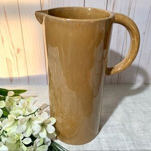 "Threshold 11"" Amber Decorative Pitcher Vase"